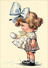 REPRINT PICTURE of old postcard WOULD YOU MAKE THIS EASTER EGG FOR ME 5x7