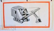 Öl-Bild auf Leinwand Löffel-Bagger 660/2 Illustration eines WIKING-Modells 45x80