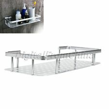 Rectangle Single Tier Wall Mouted Bathroom Floating Shelf Bath Shelves Alu Rack