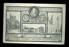 1909 Postcard University of Pennsylvania Alaska Yukon Exposition B2737