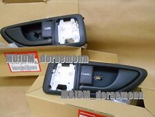 GENUINE HONDA Left + Right DOOR HANDLEs BLACK COLOR JDM 93-95 Del Sol OEM PART