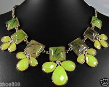 Newest Design huge Lady Statement crystal chunky chain charm coin necklace q163