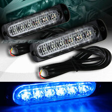 12 LED BLUE CAR EMERGENCY BEACON HAZARD WARNING FLASH STROBE LIGHT BAR UNIVERSAL