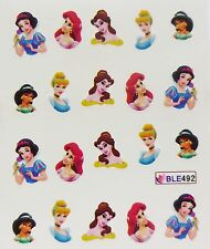 Nail Art PRINCESS Girls Jasmine Belle Ariel Cinderella Water Decal Sticker 492