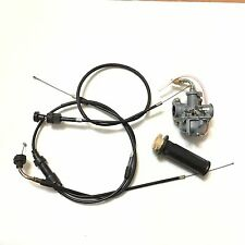 NEW PW50 Carburetor Throttle & Choke cables Throttle Grip fit Yamaha PW50 PY50