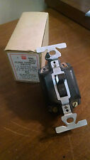 Vintage BRYANT T Rated Quadruple Break Single Pole Toggle Wall Switch NOS brown