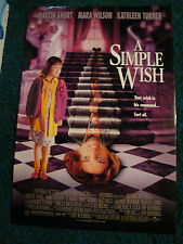 A SIMPLE WISH - MOVIE POSTER WITH MARA WILSON & MARTIN SHORT