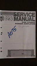 Proton d230 service manual repair book original car stereo power amp amplifier