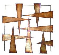 Modern Abstract Metal Wall Art Sculpture Metal Frame Hot Folds Stainless Steel