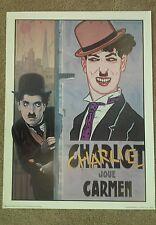 Vintage 70s 80s Print CHARLIE CHAPLIN JOUE CARMEN Paris Poster