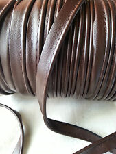 2M Brown Faux Leather Insertion Cord Flanged Rope Piping Upholstery Sewing 8mm