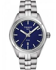 New Tissot PR100 Blue Dial Stainless Steel Women's Watch T1012101104100