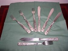 MAPPIN & WEBB CUTLERY 4 FISH KNIVES AND FORKS KINGS PATTERN
