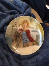 1982 Edwin M Knowles Annie And Sandy Little Orphan Annie Collectors Plate