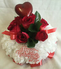 Artificial Silk Red Rose Valentines Day Funeral Flower Posy Tribute Memorial Red