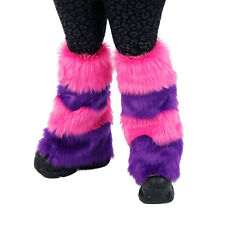 PAWSTAR Cheshire Cat Leg Warmers Fluffies Pink Purple Boot Cover [CLA] 2900