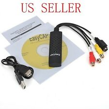*EasyCap USB 2.0 Video Adapter w/ Audio TV DVD VHS Capture Card Converter PS3