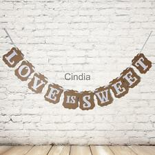 LOVE IS SWEET Vintage Wedding Party Decoration Bunting Garland Banner
