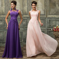 PLUS SIZE 20 22 24 26 Lady Long Bridesmaid Evening Maxi Dress Wedding Prom Dress