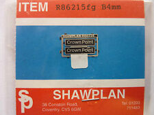 Shawplan/Extreme Etchings 4 mm Nameplate - Class 86 215fg 'Crown Point'.