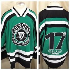Guinness Beer Authentic Clothing (XL) Dublin Ireland Pullover Knit Hockey Jersey