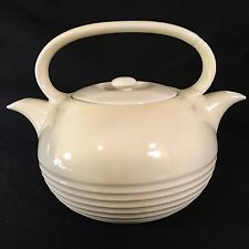 Antique Hall Twinspout Tea Master Teapot Made in USA Creamy Yellow