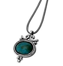 SHABLOOL ISRAEL Didae Beautiful Turquoise Sterling Silver 925 Necklace