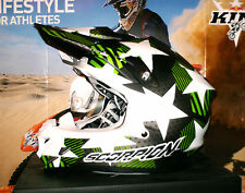 SCORPION EVO vx-15 stadio PUMP sistema Cross Enduro Casco Matt KAWASAKI KX-F NUOVO L