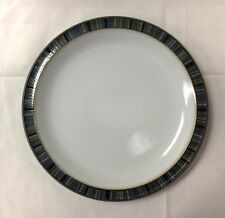 "DENBY""JET STRIPES"" ACCENT DESSERT/SALAD 8 3/4"" STONEWARE NEW MADE IN ENGLAND"