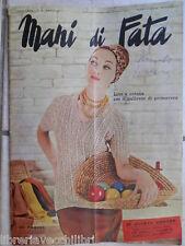 Vecchia Rivista MANI DI FATA marzo 1964 senza inserto lavori cucito ricamo della