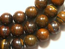 """Gemstone Iron Tiger Eye 12mm Round Loose Beads 5"""" 10 beads"""