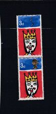 GREAT BRITAIN 1966 NATALE 3D DOPPIO QUEEN'S HEAD errore SG.713 AB CAT £ 650 MNH