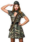 Army Combat Cutie Military Soldier Camouflage Fancy Dress Costume Outfit 0134