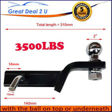 "2"" TOWBAR TONGUE BALL MOUNT HITCH TOW BAR TOWING 3500LBS HAYMAN REESE TYPE NEW"
