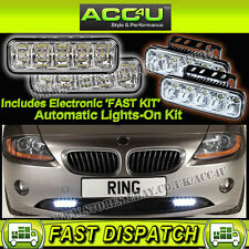 Ring Aurora 12v Car Automatic White LED Daytime Running Lamps Cruise DRL Lights