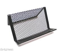 Office Desk Metal Wire Mesh Business Card Display Holder Stand Black