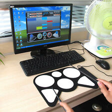 USB PC Digital Electronic Roll Up Drum Pad Kit Music Practice Instrument Kid New
