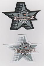 LOT OF TWO PHILADELPHIA FLYERS 25th ANNIVERSARY PATCH BOTH VERSION