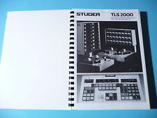 Set of schematics/schemi per Studer TLS 2000, ORIGINALE
