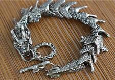 Free Shipping New charm 1pcs beautiful and fashion Tibet silver dragon bracelet