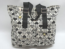HARAJUKU LOVERS - GWEN STEFANI BLACK & WHITE GRAPHICS/LOGO TOTE BAG - EUC