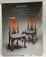 Sotheby's NY Important English Furniture & Decorations October 12 1995 Catalog