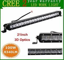21inch Cree Slim Single Row 100W COMBO LED Light Bar Offroad Jeep SUV Truck Lamp