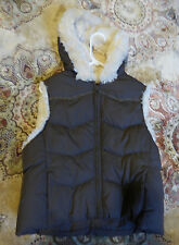 Beautiful Super Warm Winter Faux Fur Brown Hooded Vest Size Large by Big Chill