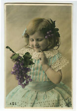 c 1904 Vintage Children Child CUTEY DEVINE GIRL undivided back photo postcard