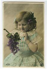 c 1904 Vintage Children Child CUTEY DEVINE GIRL undivided back photo postcard