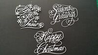 6 TATTERED LACE CHRISTMAS  DIE CUTS SENTIMENTS