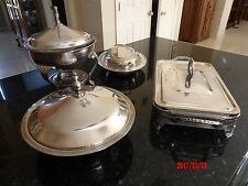 VINTAGE SILVERPLATED 4 PIECE CHAFING Dishes-various makers