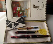 PARURE STYLO BAYARD KARTING PLUME  BILLE COLLECTION