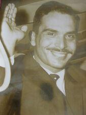 Photo presse vintage Le roi Hussein de Jordanie Portrait 1963